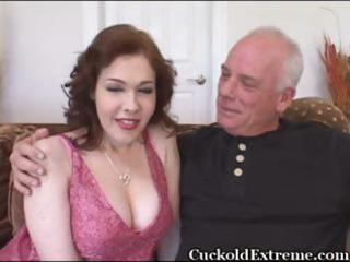 Milky white busty wife gets stuffed with a bbc