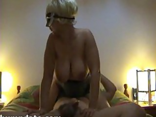 lustful chick with large wobblers receives screwed