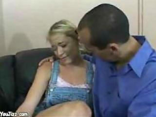 golden-haired babysitter is screwed hard by horny