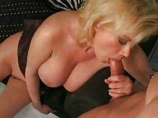 breasty blonde mom carolyn monroe enjoys a meaty