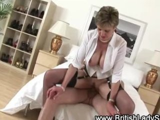 check breasty aged brit receive a jizz flow