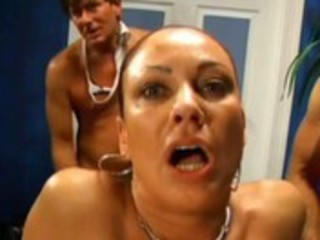 milf team fuck with creampie and anal creampie