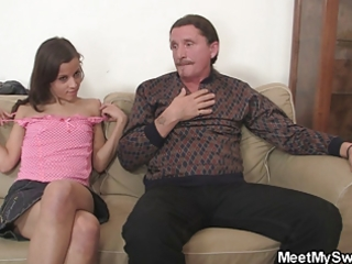 His mom joins her husband fucks their sons gf