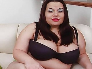 sexy giant black haired momma with extra big