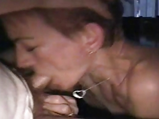 non-professional older wife deepthroat