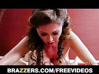 amazing dark brown masseuse deep-throats and