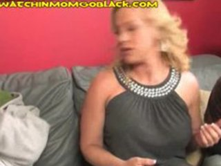 Watch blonde mom suck huge ebony cock