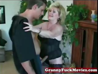 eager golden-haired granny with younger chap