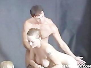 lesbo shower jilted and spanked by a giant bulky