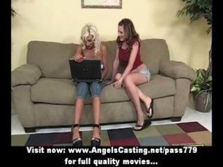 blonde lesbo d like to fuck and juvenile honey