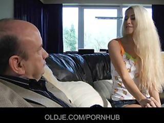 juvenile blonde tastes the old french ramrod