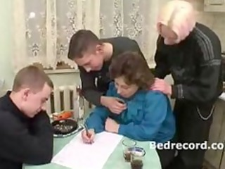 mature russian with 4 lads 8