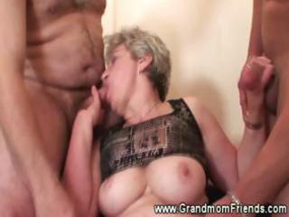 sexy granny dual dong sucking