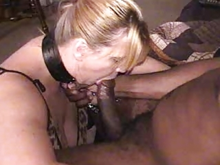 leashed, collared bondman wife ordered to suck bbc