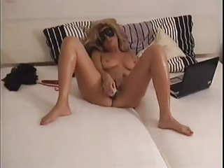 chesty milf takes her horniness in her own hands