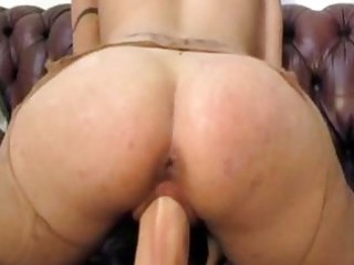 Milf amateur huge dildo fucking and bizarre
