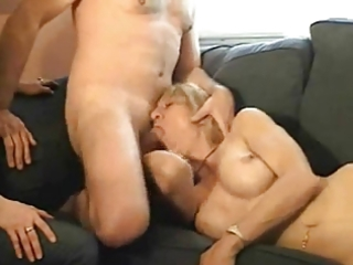 wife lets ally suck him off