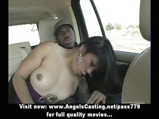 enjoyable asian brunette lady having interracial