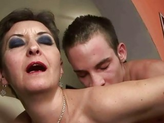 nasty granny fucking with a boy
