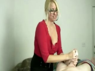 blonde d like to fuck tugging cock during massage