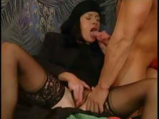 mature dark brown takes care of her gigolo with
