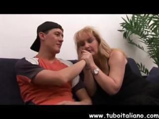 breasty mature italian golden-haired gets