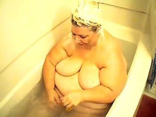 in the bathroom tub