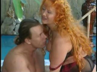 Slutty red-haired granny still can fuck better