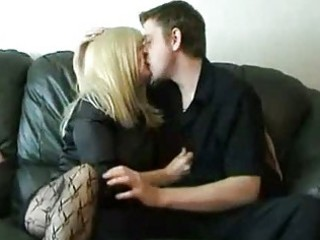 obese aged slut screwed on couch