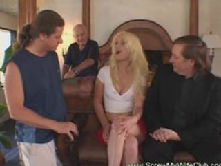 hawt golden-haired wife enjoyed a great sex