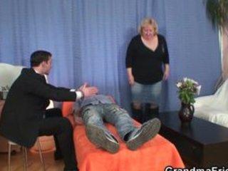 blonde grandma receives slammed by rods