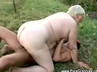 granny rides young pecker