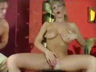 busty blond mother i gives a boob job and cook