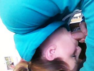 My wife sucking my cock and swallowing - doesnt