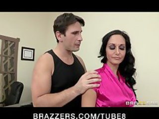 hot lustful executive ava addams massaged and