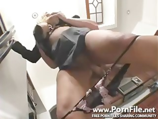 Busty blonde Shyla Stylez is horny and fucks all