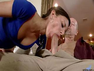 slender wife comes home and blows husband