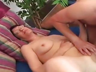 bulky juvenile shaggy granny in good act