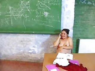 filming his preggy teacher masturbating in