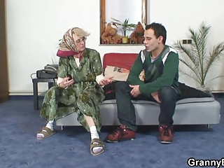 lonely granny pleases a absolutely stranger