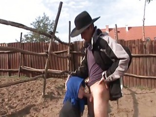 granny desires some young cowboy to ride her