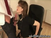 british older lady sonia receives a spunk fountain