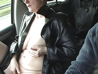 curvy mature golden-haired wanks in the car