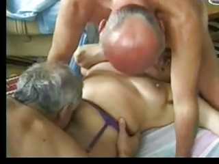 granny entertains old chaps