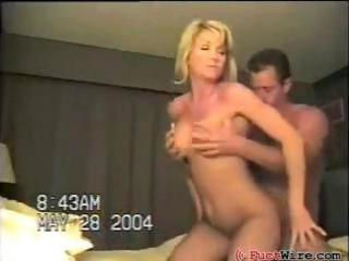Busty, blonde, amateur wife gets fucked by her