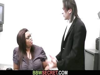 married boss seduces his bulky swarthy secretary