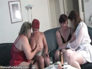 horny group of aged sweethearts having sex part5