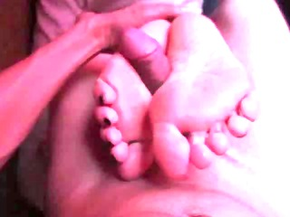 footjob in manizales - colombian redhead feet -