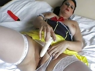 spruce english milf toys her used moist wet crack
