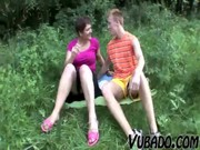 mother i and teenager have a fun outdoor sex !!